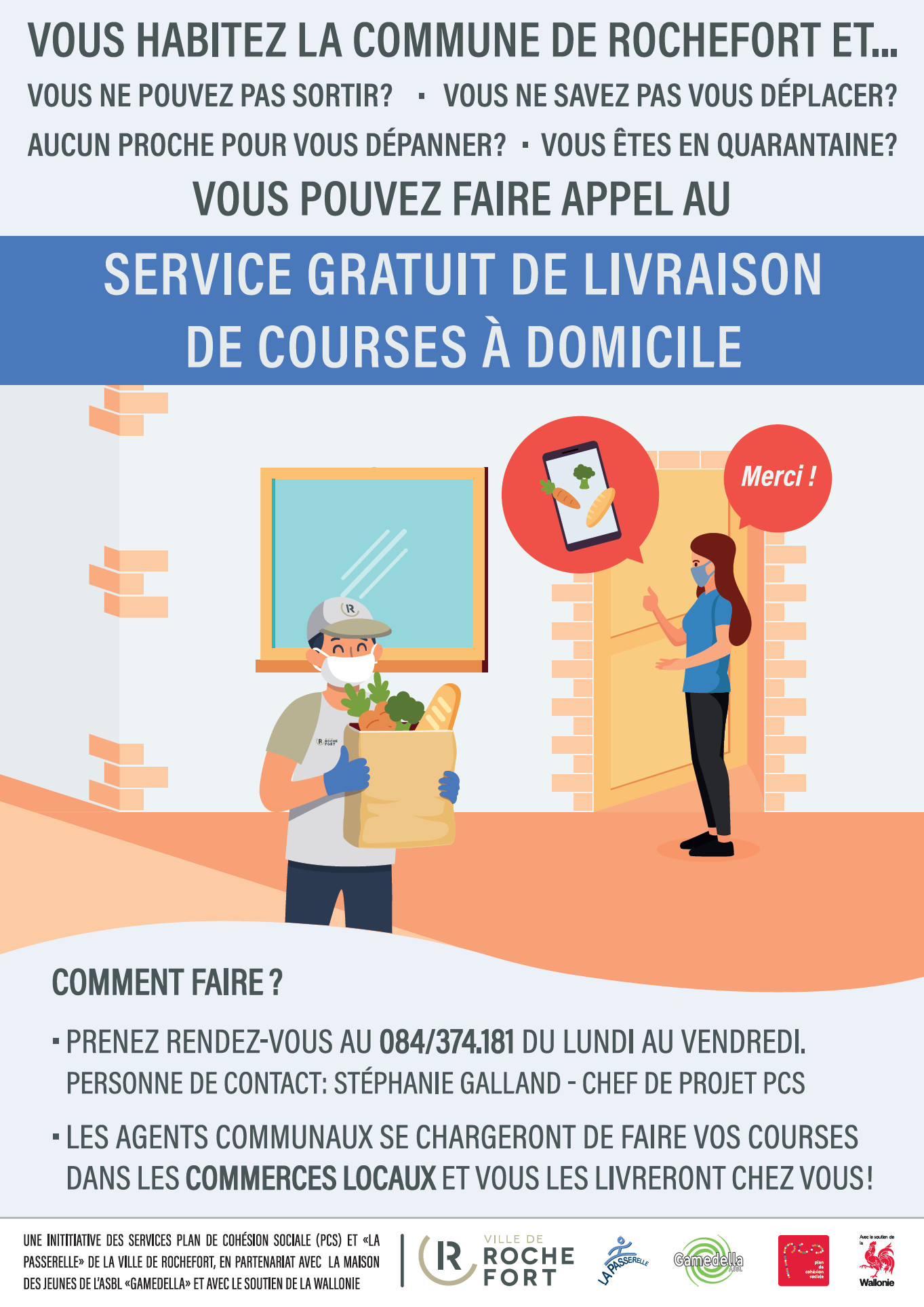 Service de livraison de courses à domicile — Rochefort, une Ville